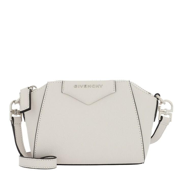 Handtasche, Givenchy, Nano Antigona Crossbody Bag Goatskin White