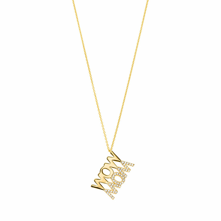 Kette, Leaf, Necklace Wow Mom Yellow Gold