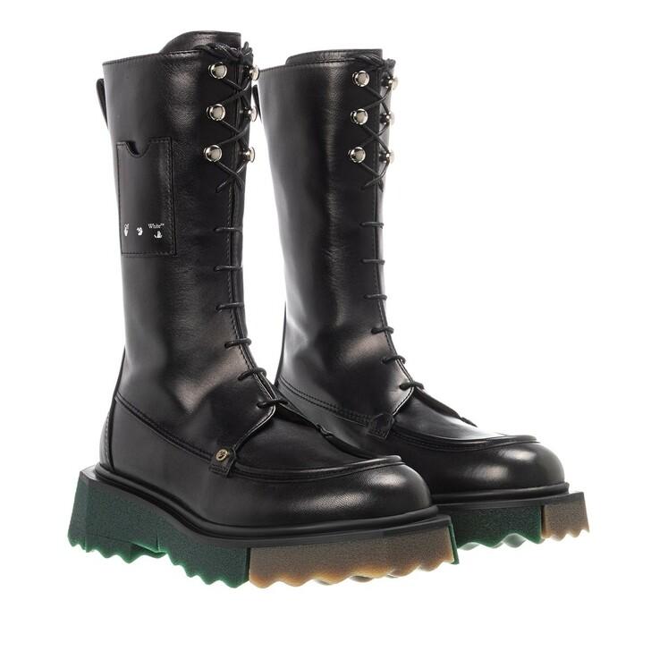shoes, Off-White, Sponge Pocket Combat Boot Black