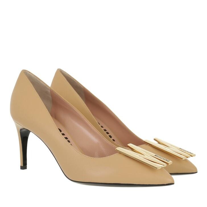 shoes, Moschino, Scarpad Re Mh64/75 Vitello  Beige