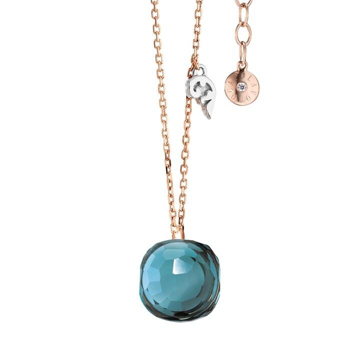 necklaces, Capolavoro, Necklace Happy Holi Topas London Blue Cabochon Rosegold