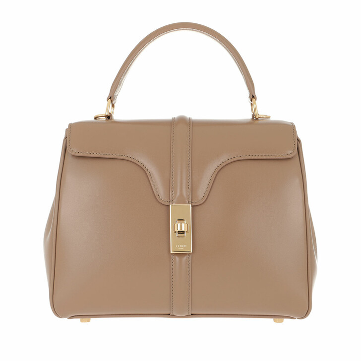 Handtasche, Celine, 16 Bag Small Satinated Calfskin Beige
