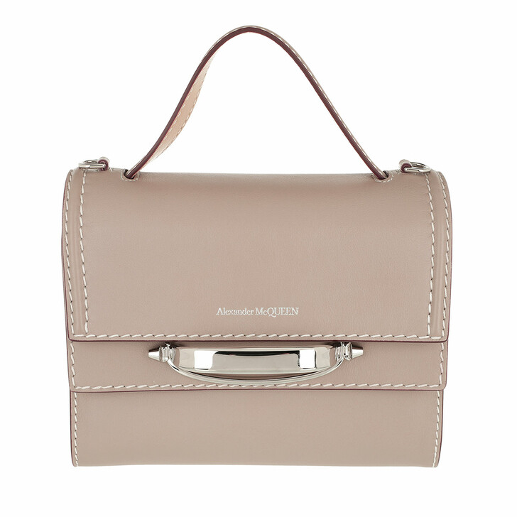 bags, Alexander McQueen, The Story Satchel Bag Leather Taupe