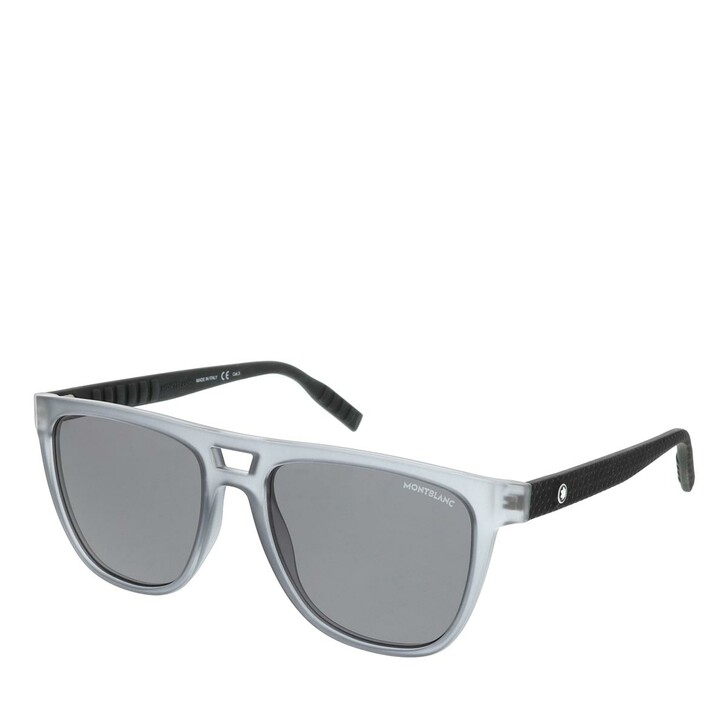 Sonnenbrille, Montblanc, MB0063S-003 55 Man Injection Grey-Black-Grey