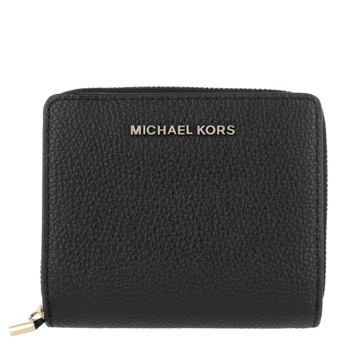 Geldbörse, MICHAEL Michael Kors, Medium Za Snap  Black