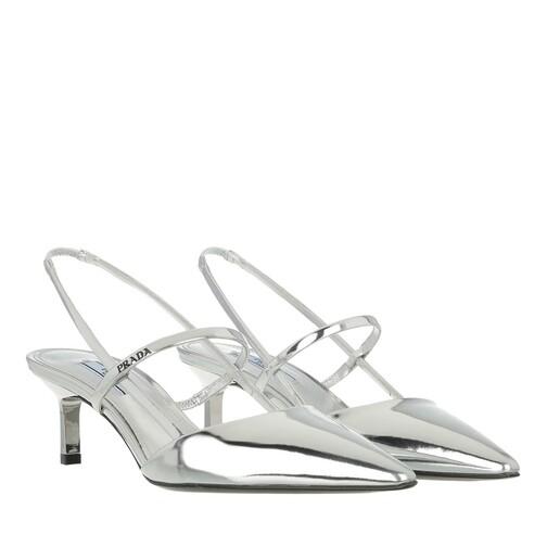 prada -  Pumps & High Heels - High Slingbacks Leather - in silber - für Damen