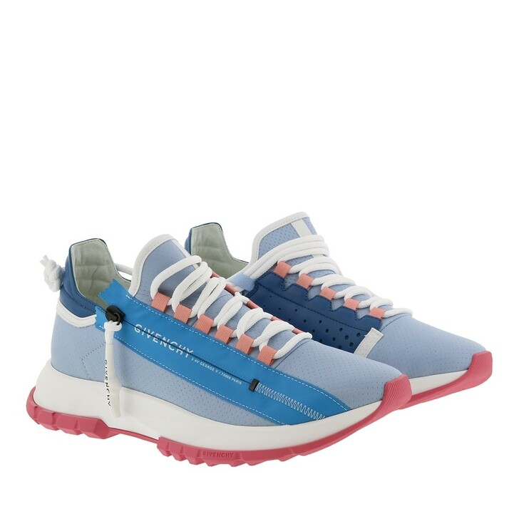 Schuh, Givenchy, Spectre Low Sneakers Perforated Leather Sky Blue
