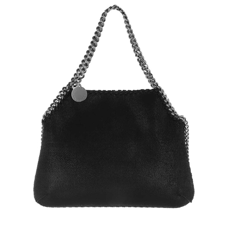 bags, Stella McCartney, Shaggy Deer Medium Shoulder Bag Leather Black