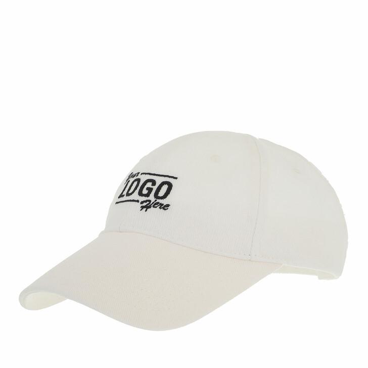 hats, Balenciaga, Your Logo Here Baseball Cap White/Black