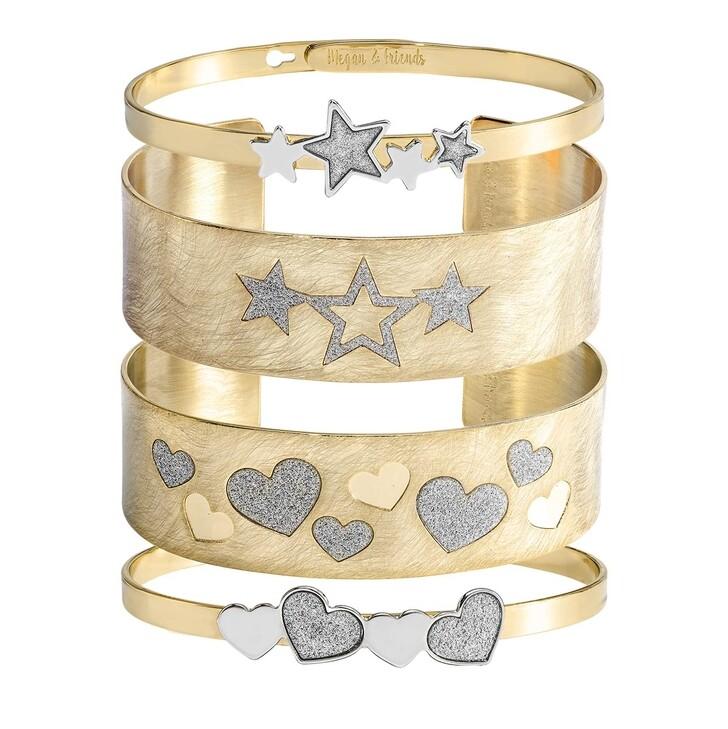 Armreif, Megan & Friends, Bangle Set Hearts & Stars  Gold