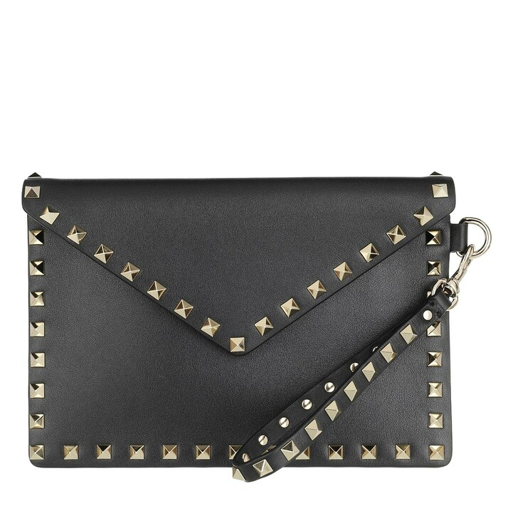 bags, Valentino Garavani, Medium Pouch Black