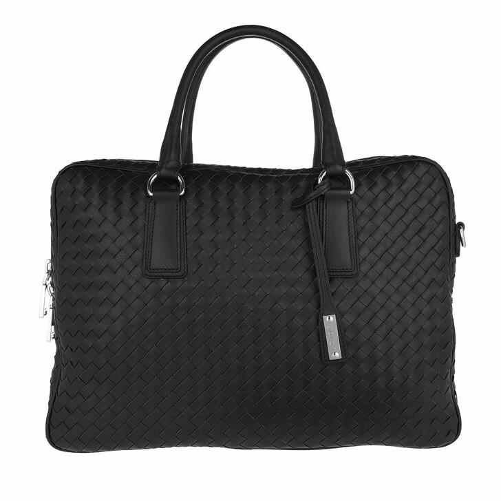 Handtasche, Abro, Nappa Lotus Handle Bag Black/Nickel