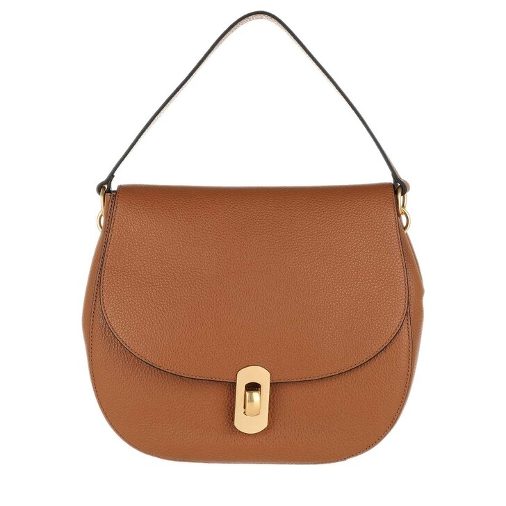 Handtasche, Coccinelle, Zaniah Crossbody Leather  Caramel