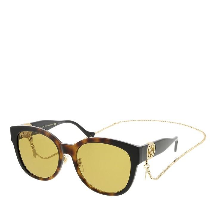 sunglasses, Gucci, GG1028SK-003 56 Sunglass Woman Injection Havana-Black-Brown