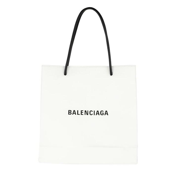 bags, Balenciaga, Shopping Bag Leather White