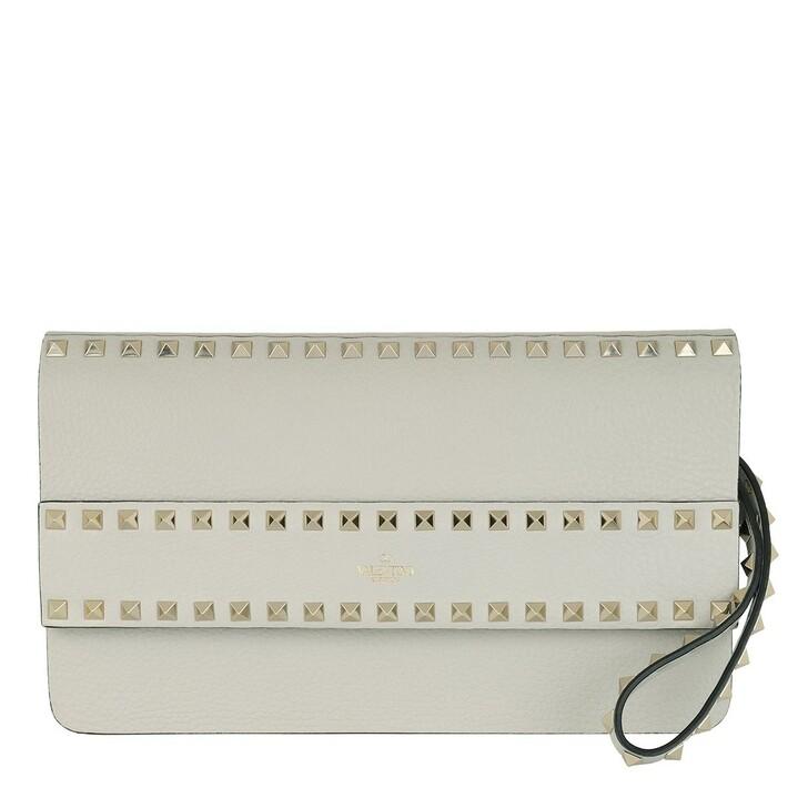 bags, Valentino Garavani, Rockstud Pochette Opal Grey