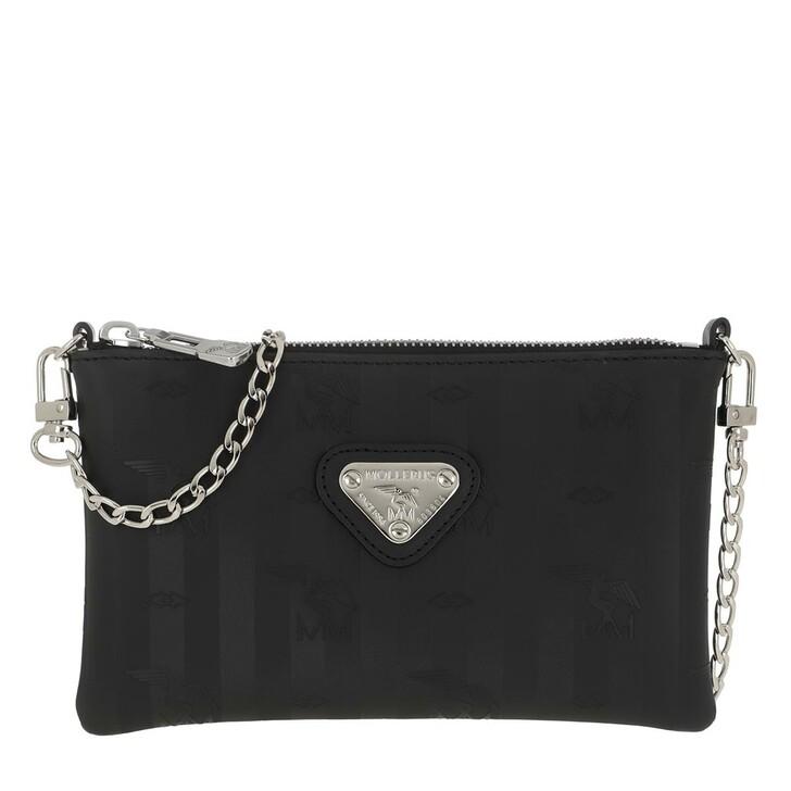 Handtasche, Maison Mollerus, Arvigo Belt Bag Black/Silver