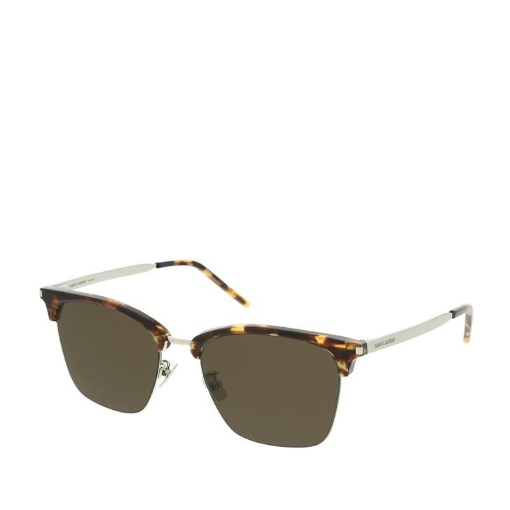 sunglasses, Saint Laurent, SL 340-004 55 Sunglasses Havana-Silver-Brown