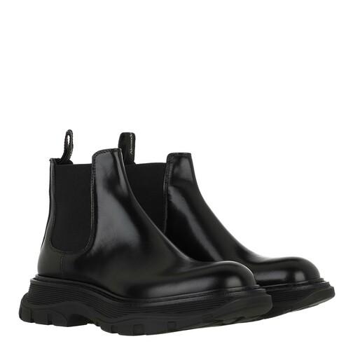 alexander mcqueen -  Boots & Stiefeletten - Bootie Smooth Leather - in schwarz - für Damen