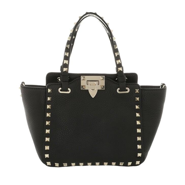 Handtasche, Valentino, Mini Rockstud Tote Bag Black