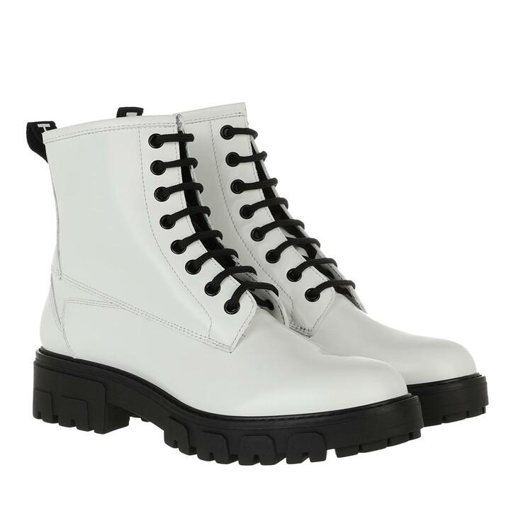 shoes, Hugo, Axel Bootie White