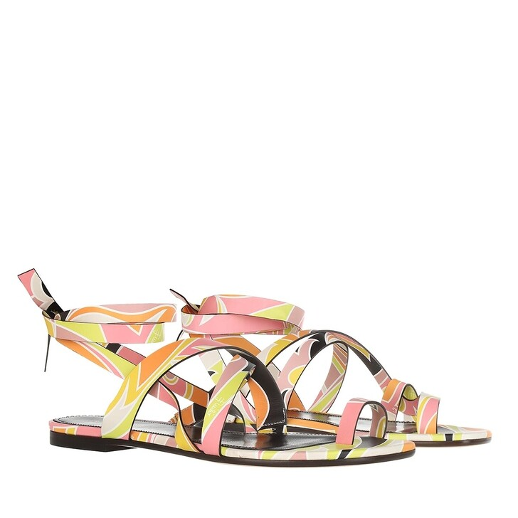 shoes, Emilio Pucci, Sandals Dinamica  Rosa/Giallo