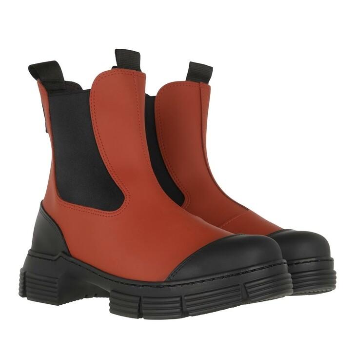 Schuh, GANNI, City Boot Madder Brown
