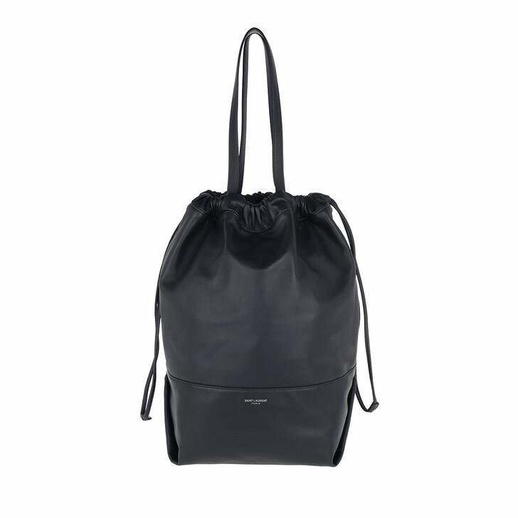 Handtasche, Saint Laurent, Harlem Shopping Bag Lambskin Notte