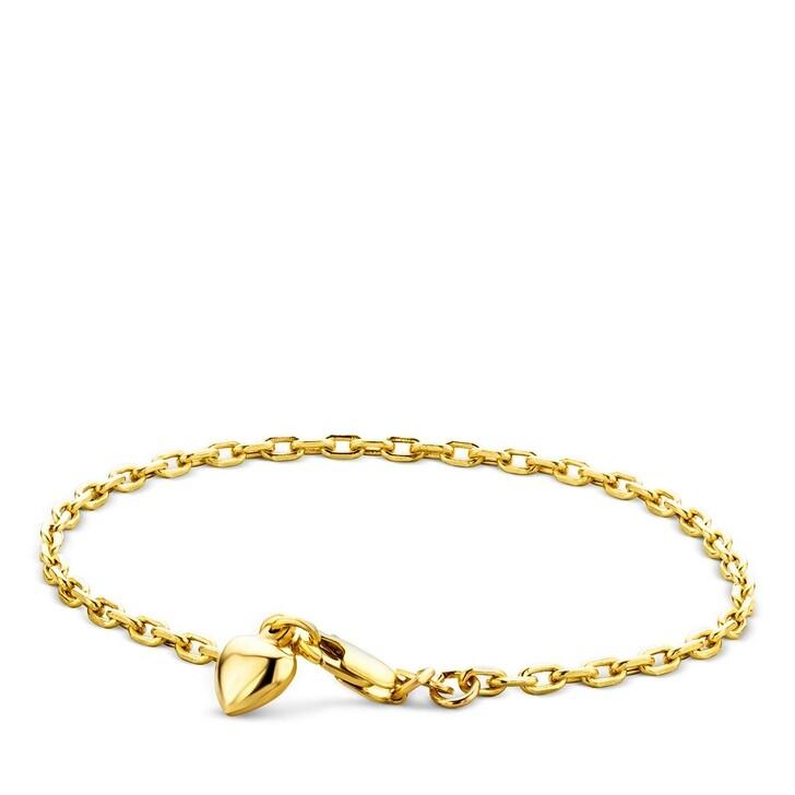 bracelets, DIAMADA, 14KT Heart Bracelet Yellow Gold
