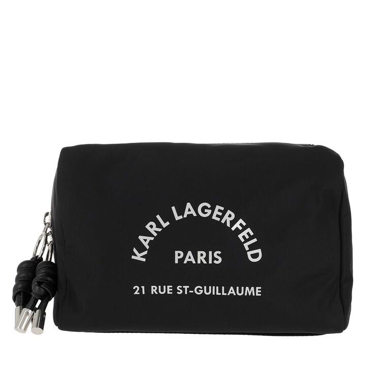 Handtasche, Karl Lagerfeld, Rue Saint Guillaume Washbag Black