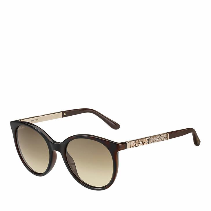 sunglasses, Jimmy Choo, Sunglasses Erie/S Havana Brown