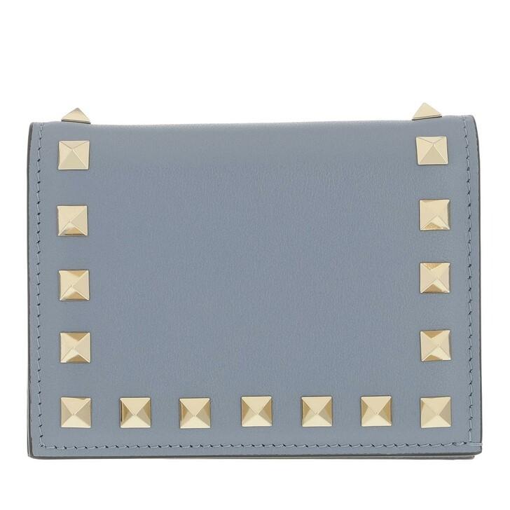 wallets, Valentino Garavani, Rockstud Small Wallet Light Blue