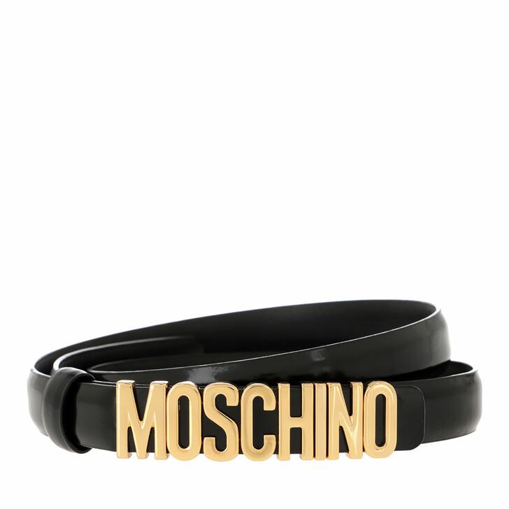 belts, Moschino, Belt Black