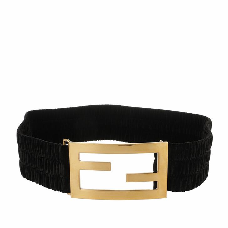 belts, Fendi, Ribbon Baguette Logo Belt Black