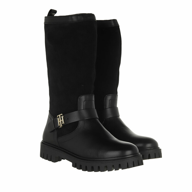 shoes, Tommy Hilfiger, TH Hardware Material Mix Boot