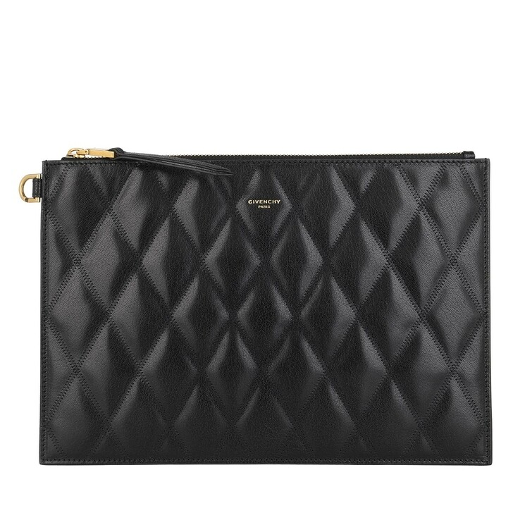 Handtasche, Givenchy, Quilted Pouch Leather Black