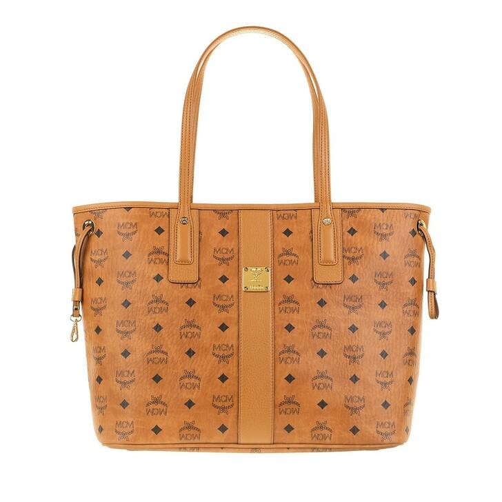 Handtasche, MCM, Liz Shopper Medium  Cognac