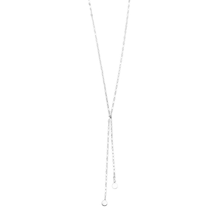 Kette, Leaf, Y-Necklace Shiny Silver