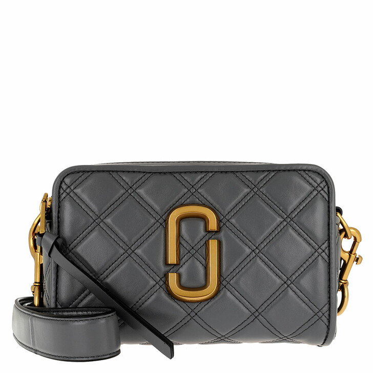 bags, Marc Jacobs, The Soft Shot 21 Leather Dark Grey