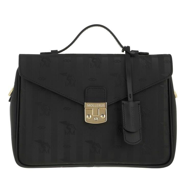 Handtasche, Maison Mollerus, Crossover  Black Gold