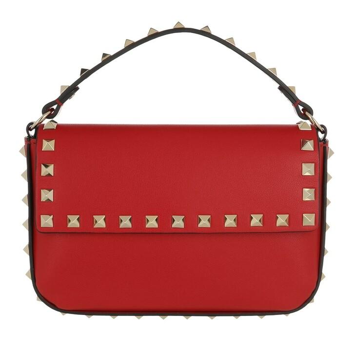 bags, Valentino Garavani, Rockstud Pouch Bag Leather Rouge Pur