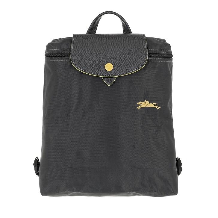 bags, Longchamp, Le Pliage Club Backpack  Metal Grey