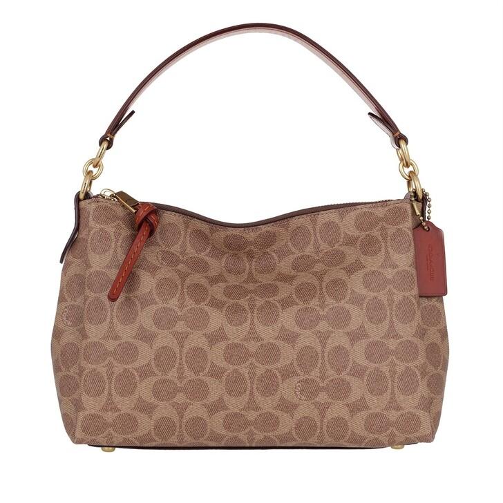 Handtasche, Coach, Shoulder Bag Tan Rust