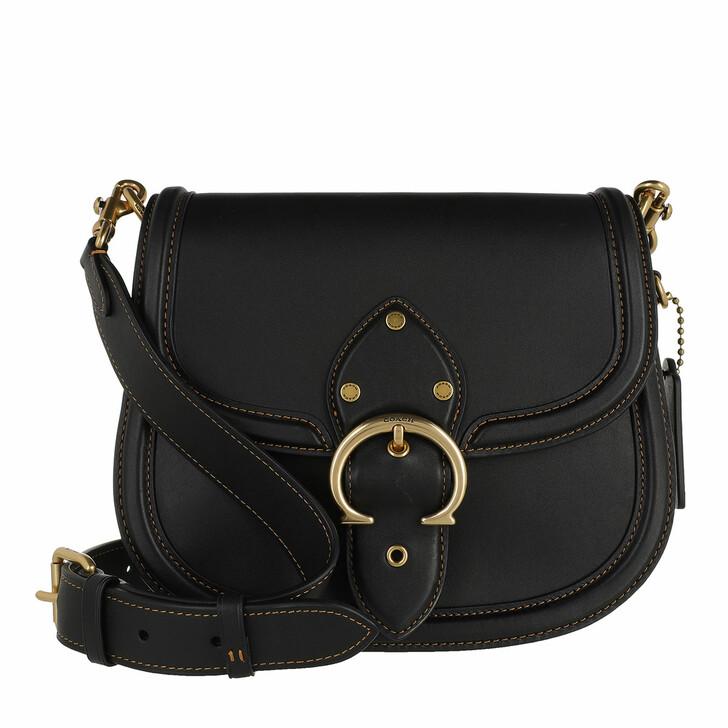 Handtasche, Coach, Glovetanned Leather Beat Saddle Bag B4/Black