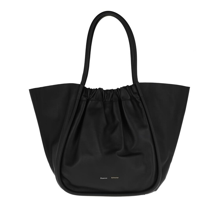 Handtasche, Proenza Schouler, XL Ruched Tote Bag Calfskin Black