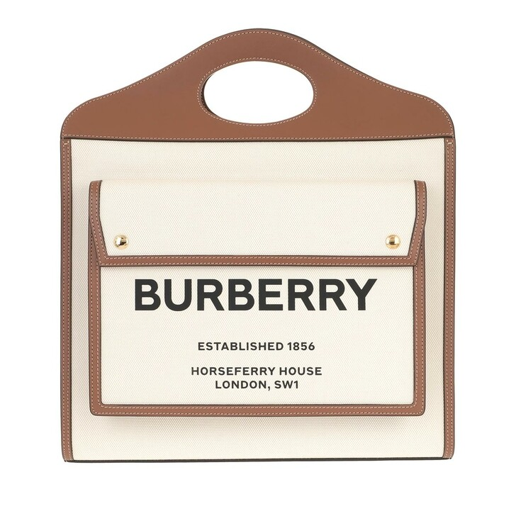 Handtasche, Burberry, Pocket Shoulder Bag With Handle Brown
