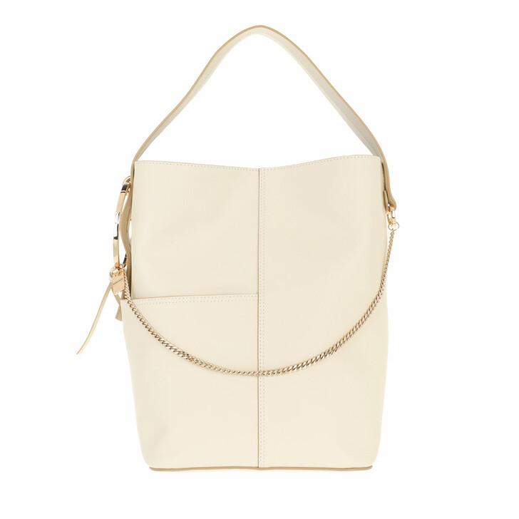 bags, Borbonese, Medium Bucket Bag Beige