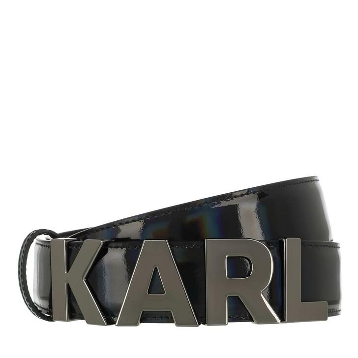 Gürtel, Karl Lagerfeld, Karl Metal Letters Belt Metallic Black