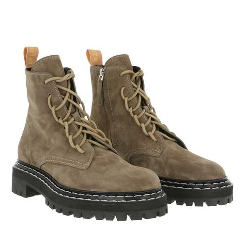 proenza schouler -  Boots & Stiefeletten - Combat Lace Up Ankle Boot - in beige - für Damen