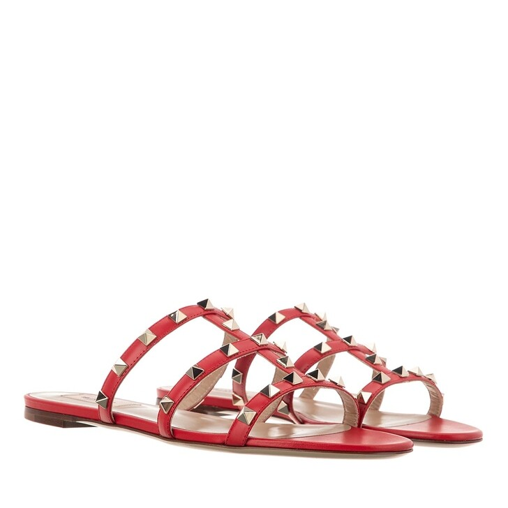 Schuh, Valentino Garavani, Flat Slipper Rouge